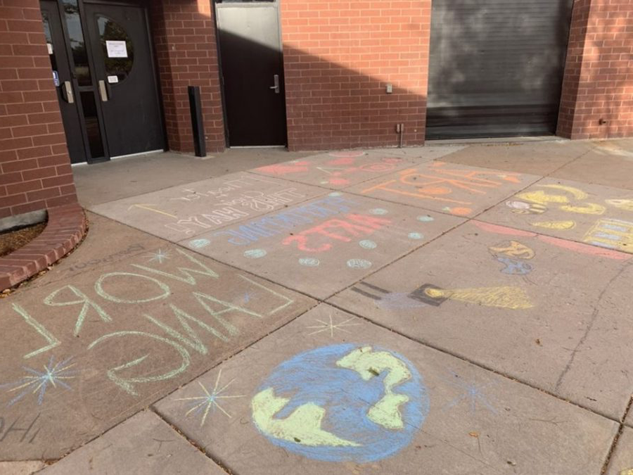 Rangeview%27s+leadership+class+spent+hours+making+a+chalk+walk.